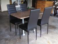 Like new RV dinette table and chairs. No rips or tears,