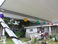 GLOBE STRING LIGHTS FOR RV AWNING. MULTI COLORED.