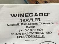 Model SK1000. Traveler High def Dish network auto lock