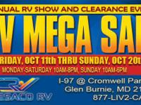 FALL RV MEGA SALE GOING ON NOW!!   October 11th-20th