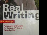 I have the book Real Writings with readings for