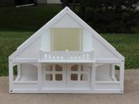 This spacious 2-story doll-house has a lovely A-frame