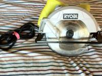 Ryobi 7-1/4 in. w/one combination blade included 13-Amp