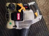 Ryobi hand held gas blower runs great 3 or 4 years old