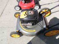 this is a 22in ryobi lawn mower. it has a 6.5 hp motor