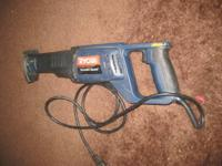 Ryobi Reciprocal Saw Model RJ161V. Used in good