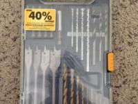 Drill bit set in great condition with original