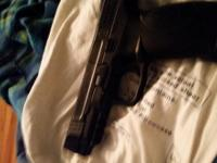 Smith and Wesson MP 45 pellet /BB hand gun. Powered by