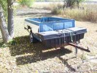 For Sale- a Chevy S10 pickup box trailer with tool box