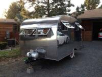 1950 canned ham type trailer. This vintage trailer (or,