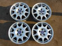 Complete set of 4 SAAB factory alloy wheels with SAAB