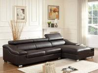 Sabino Sectional * Wrapped in genuine bonded leather. *