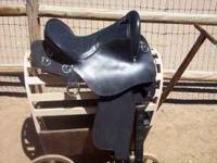 King black 15 inch endurance saddle, has been used two