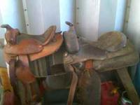 one adult riding saddle ($50) one childs riding saddle
