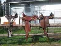 3 saddles for sale-Austrailian with horn 18 in seat