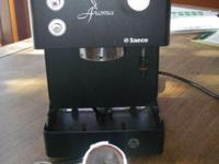 "This is a Saeco brand ""Aroma"" counter top espresso"