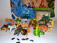 "SAFARI TO GO by ""ANIMAL PLANET-"" LOT OF ADORABLE JUNGLE"