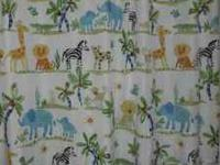 *Safari-themed shower curtain, including rings