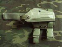 This is a Safariland Drop Leg Tactical Holster in