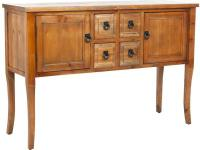 It is the Dolan sideboard's gently curved legs that