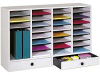 New, Safco 32 area literature wood organizer in off