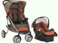Travel system..includes carseat & base & stroller..in