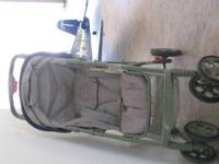 Heavy duty green stroller, up to 50 lbs!!!!! good