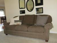 Sage green sofa, King Hickory brand.  Excellent