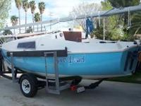 Sailboat in good condition with trailer and outboard