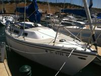 This is a 1982 Catalina 25 sailboat located on Lake Don
