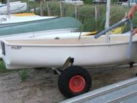 PILOT Sailing Dinghy, approx. 10 ft, white, fiberglass