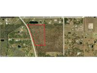 9.5 ACRES OF VACANT LAND WITH A FUTURE LAND USE OF LOW