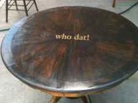 Awesome Stained Saints Table An 4 Chairs A Must See