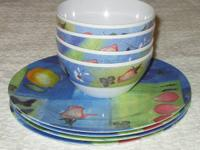 Offered for purchase is an 8-piece melamine dish set by