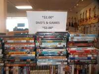 Stop in today and check out our HUGE selection of DVD's