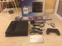 I sale play station 4 with one controller and 5 game
