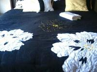 For sale:.  Black complete size captain's bed