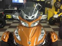 2014 Can-Am Spyder RT Limited motorcycle in Cognac WAS