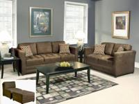 SALE! NEW Serta Sienna Chocolate Sofa $299 Still in