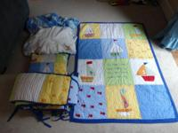 We have an adorable pottery barn bed linen set for baby