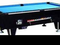 Coin Operated Pool Table- $1050 1-Inch Slate, Ball