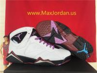 Women Air Jordan 7 GS Fuchsia Glow White Purple Black