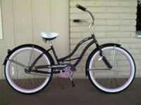 "** Brand New 26"" Women's single speed  BEACH CRUISER"