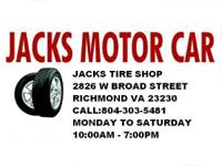 Jacks Tires Shop selling all sizes used tire R14 R15