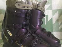 Pre-owned Smoke free house Salomon ski boots Purple