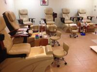~6 Jaguar Spa pedicure chairs only 1 year old. Worth
