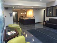 Recently remodelled salon area at Emerson Office
