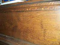 tiger wood saloon style piano, needs tune up and couple