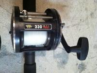 2- Penn reels model 330 GTI Graphite, loaded with 50 lb