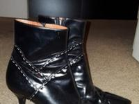 BRAND NEW Never worn!!Genuine leather (black) ankle